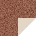 Dubbelzijdig cadeaupapier terra met zwarte dots 70x 200 cm