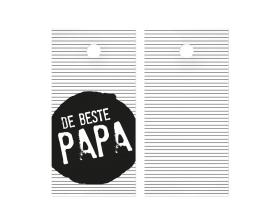 cadeaukaartje de beste papa