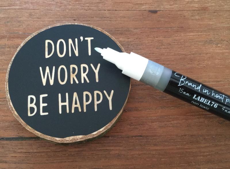 Combi pen, 1,5mm en 4 mm Brand in hout pen®️