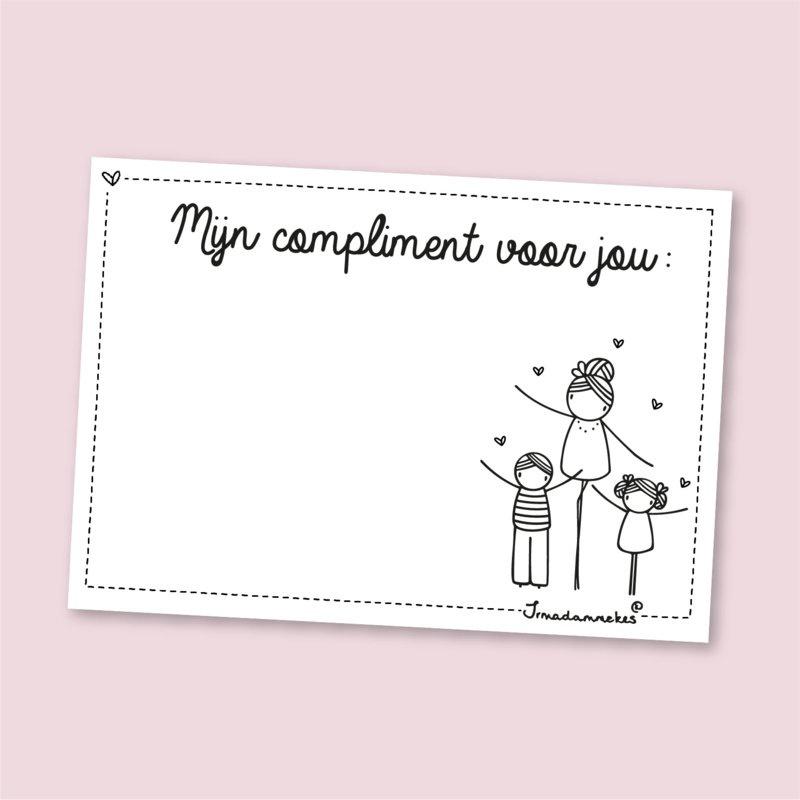 complimentenblokje voor juf (DL)