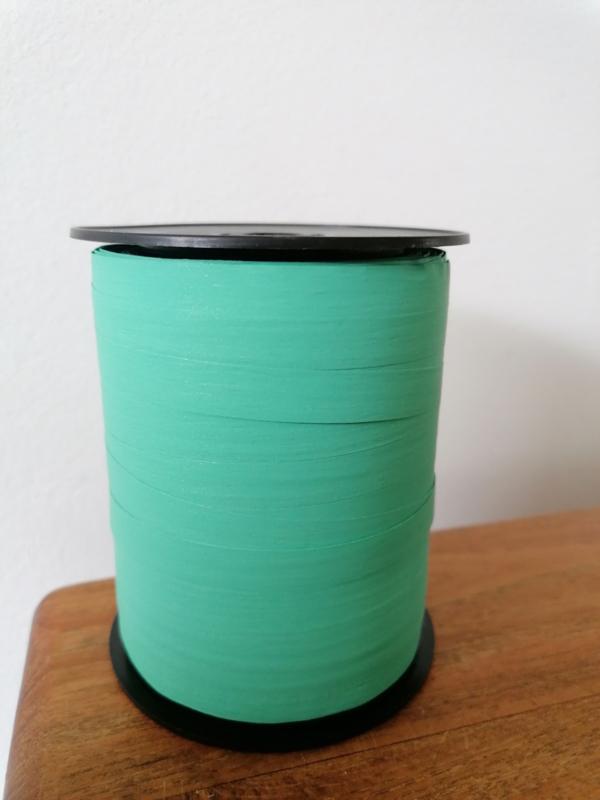 Paperlook krullint aquablauw -10 mm breed