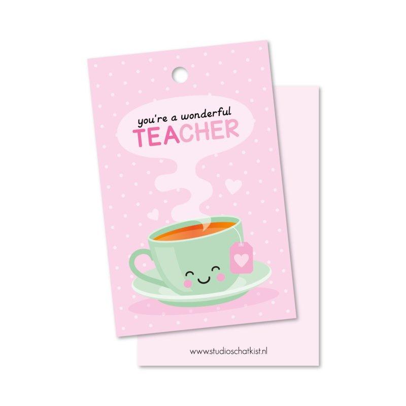 Cadeaulabel you're a wonderful teacher (DL)