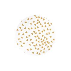 Witte (sluit)sticker met gouden opdruk wiebertjes