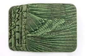 Onderzetters croco/leer groen vierkant