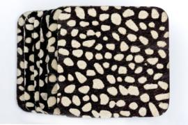 Koeienhuid onderzetters zwart/wit dalmatiërs