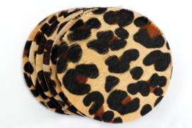 Koeienhuid onderzetters panter/leopard