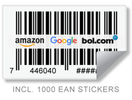 1 EAN code + Barcode stickers