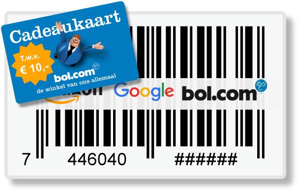 10.000 Officiële EAN Codes, incl. cadeaukaart t.w.v. € 10,=