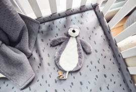 Speendoekje Pinguïn - Storm Grey