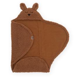 Wikkeldeken Bunny 100x105cm - Caramel