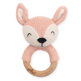 Bijtring Ø 7cm Deer - Pale Pink