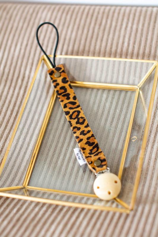 Speenkoord leopard bruin
