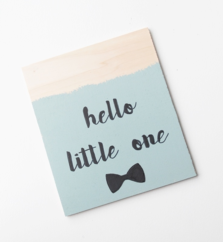 Houten poster Hello little one