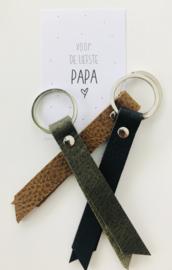 Sleutelhanger PAPA bruin
