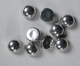 2-hole Cabochons, 6 mm, Crystal Labrador Full