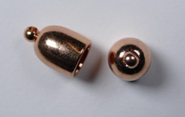 Bullet End Cap, 6 mm, Copper Plated