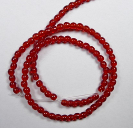 Round Beads , 2 mm, Czech Glass, Siam Ruby