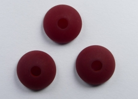 10 mm Polaris halfronde kraal, ruby