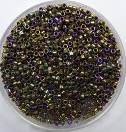 Miyuki Delica's, 11/0 , Metallic Golden Olive Iris, kleurnummer 29