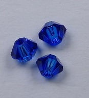 3 mm Blue Capri Swarovski Element Bicones