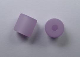 8 mm Polaris cilinder kraal, zacht lila