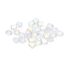 Matubo 2-Hole Ginko Bead Crystal AB