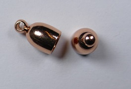 Bullet End Cap, 4 mm, Copper Plated