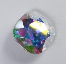 Vierkante steen, 12mm, Swarovski, Crystal AB