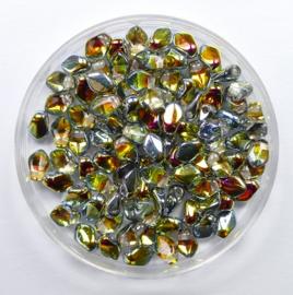 Gekko beads, 3x5 mm, Crystal Marea