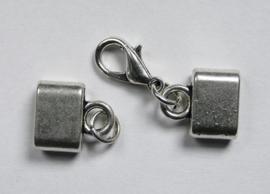 Kapjes met karabijnslotje, zilverkleur
