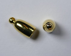 Bullet End Cap, 3 mm, Gold Plated