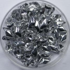 GemDuo's, 8x5 mm, Matubo, Crystal Labrador
