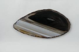Agaatschijf, 115x60 mm, zwart