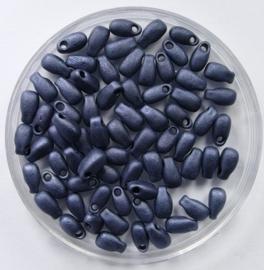 Miyuki Long Drops, 3x5,5 mm , Matte Blue Grey, kleurnummer 2001