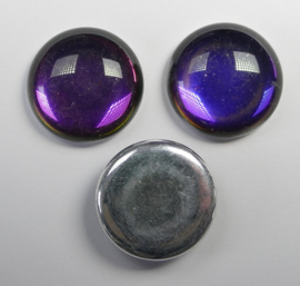 Czech Round Cabochon, 18 mm, Backlit Purple Haze