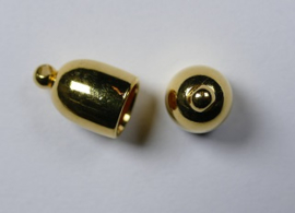 Bullet End Cap, 6 mm, Gold plated