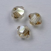 3 mm Crystal Golden Shadow Swarovski Element Bicones