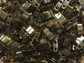 Miyuki Half Tila Beads, 5x2,3 mm , Metallic Dark Bronze, kleurnummer 457