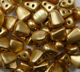 Nib-Bit, 6x5 mm, Matubo, Matte Metallic  Flax