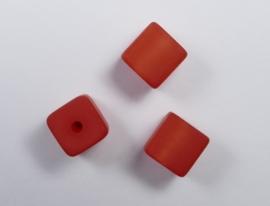 8 mm Polaris kubus kraal, rood