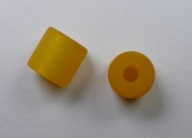 8 mm Polaris cilinder kraal, saffraan
