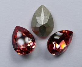 Peervormige Fancy Stone, 14x10 mm, Swarovski, Padparadscha