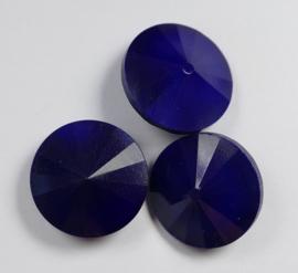 Rivoli, 14 mm, Matubo, Opaque Blue