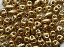 MiniDuo's, 2,5x4 mm, Matubo, Matte Metallic Flax