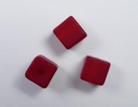 8 mm Polaris kubus kraal, ruby
