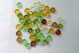 Czech Glass,  Faceted Rondel beads, 3x6 mm, Mix Earth Tone