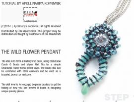Gratis patroon: the Wild Flower pendant