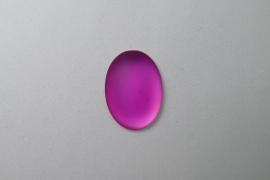 Lunasoft Cabochon Ovaal 25x18, Raspberry