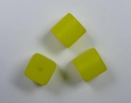 8 mm Polaris kubus kraal, geel