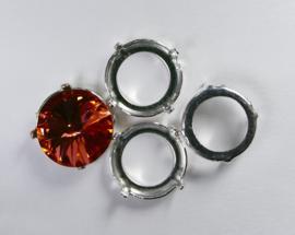 Setting voor rivoli, 14 mm, zilverkleur